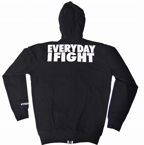 TAPOUT ジップパーカー Everyday I Fight 黒