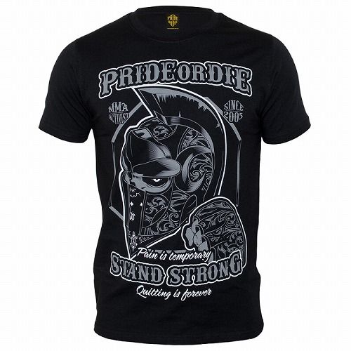 PRiDEorDiE Tシャツ STAND STRONG 黒