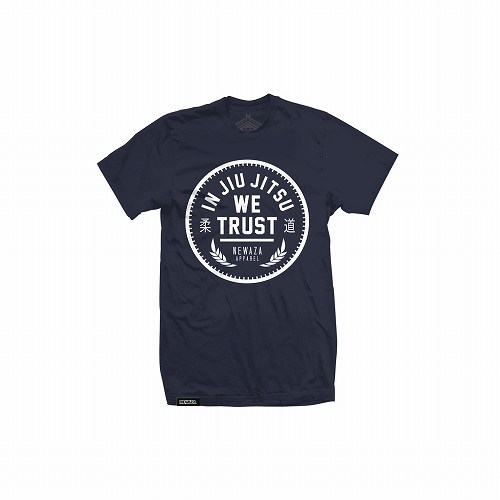 Newaza Apparel Tシャツ In Jiu Jitsu We Trust 紺/白