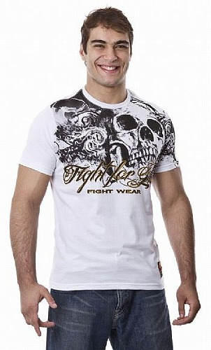 DRAGAO Tシャツ Fight For Life 白