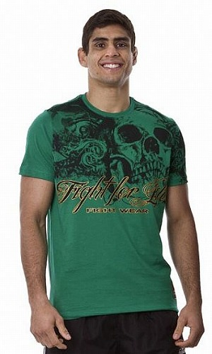 DRAGAO Tシャツ Fight For Life 緑